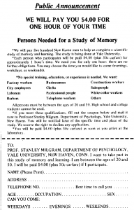 Milgram Experiment Advertising