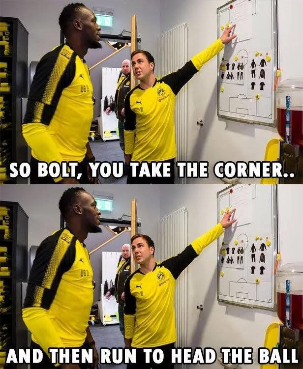 If Bolt Play Soccer